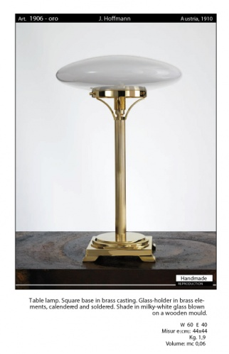 ART DECO Gold Table/Desk Lamp. Josef Hoffmann