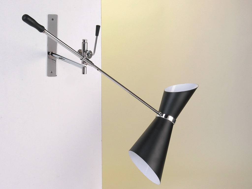Lampada da parete cromo stil novo vintage