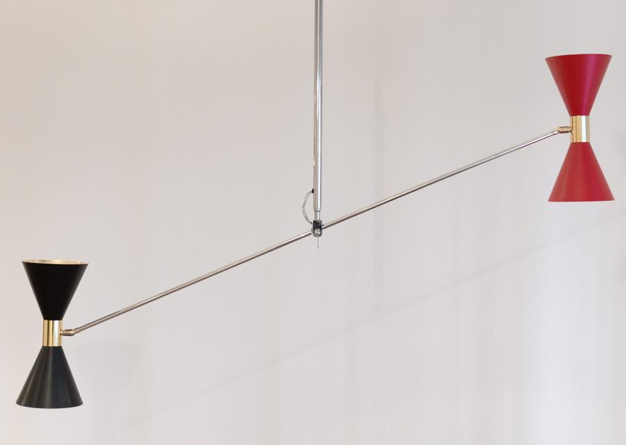 Lampada da soffitto orientbile. STILNOVO Vintage Anni  50. 4b3b9dbb9a1
